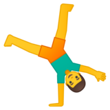 Person Cartwheeling on Google Android 8.0
