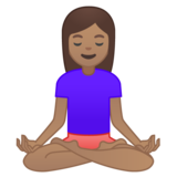 Person in Lotus Position: Medium Skin Tone on Google Android 8.0