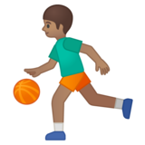 Person Bouncing Ball: Medium Skin Tone on Google Android 8.0