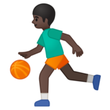 Person Bouncing Ball: Dark Skin Tone on Google Android 8.0