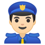 Police Officer: Light Skin Tone on Google Android 8.0