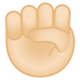 Raised Fist: Light Skin Tone on Google Android 8.0
