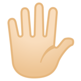 Hand with Fingers Splayed: Light Skin Tone on Google Android 8.0
