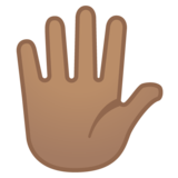 Hand with Fingers Splayed: Medium Skin Tone on Google Android 8.0