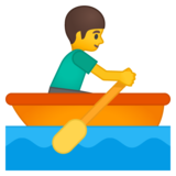 Person Rowing Boat on Google Android 8.0