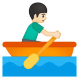 Person Rowing Boat: Light Skin Tone on Google Android 8.0
