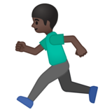 Person Running: Dark Skin Tone on Google Android 8.0