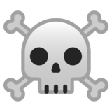 Skull and Crossbones on Google Android 8.0