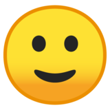Slightly Smiling Face on Google Android 8.0