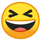 Grinning Squinting Face on Google Android 8.0