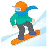 Snowboarder: Light Skin Tone on Google Android 8.0
