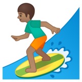 Person Surfing: Medium Skin Tone on Google Android 8.0