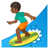 Person Surfing: Medium-Dark Skin Tone on Google Android 8.0