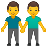 Men Holding Hands on Google Android 8.0