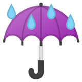 Umbrella With Rain Drops on Google Android 8.0