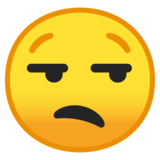 Unamused Face on Google Android 8.0