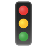 Vertical Traffic Light on Google Android 8.0