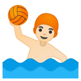 Person Playing Water Polo: Light Skin Tone on Google Android 8.0