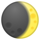 Waxing Crescent Moon on Google Android 8.0