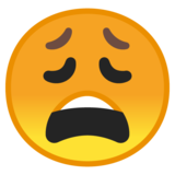 Weary Face on Google Android 8.0