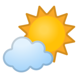 Sun Behind Small Cloud on Google Android 8.0
