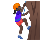 Woman Climbing: Dark Skin Tone on Google Android 8.0