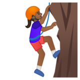 Woman Climbing: Medium-Dark Skin Tone on Google Android 8.0