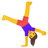 Woman Cartwheeling on Google Android 8.0