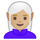 Woman Elf: Medium-Light Skin Tone on Google Android 8.0