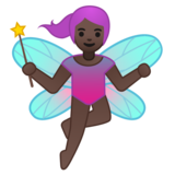 Woman Fairy: Dark Skin Tone on Google Android 8.0