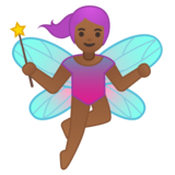 Woman Fairy: Medium-Dark Skin Tone on Google Android 8.0