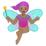 Woman Fairy: Medium Skin Tone on Google Android 8.0