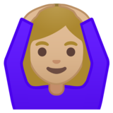 Woman Gesturing OK: Medium-Light Skin Tone on Google Android 8.0