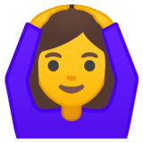 Woman Gesturing OK on Google Android 8.0