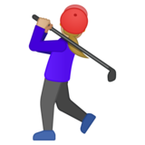 Woman Golfing: Medium-Light Skin Tone on Google Android 8.0