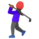 Woman Golfing: Medium-Dark Skin Tone on Google Android 8.0