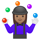 Woman Juggling: Medium Skin Tone on Google Android 8.0