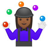 Woman Juggling: Medium-Dark Skin Tone on Google Android 8.0