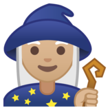 Woman Mage: Medium-Light Skin Tone on Google Android 8.0