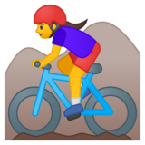 Woman Mountain Biking on Google Android 8.0