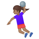 Woman Playing Handball: Medium Skin Tone on Google Android 8.0
