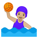 Woman Playing Water Polo: Medium-Light Skin Tone on Google Android 8.0
