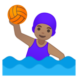 Woman Playing Water Polo: Medium Skin Tone on Google Android 8.0