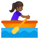 Woman Rowing Boat: Medium-Dark Skin Tone on Google Android 8.0