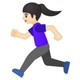 Woman Running: Light Skin Tone on Google Android 8.0