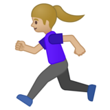 Woman Running: Medium-Light Skin Tone on Google Android 8.0