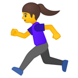 Woman Running on Google Android 8.0