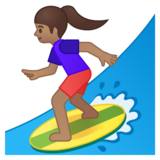 Woman Surfing: Medium Skin Tone on Google Android 8.0