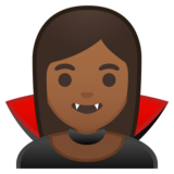 Woman Vampire: Medium-Dark Skin Tone on Google Android 8.0