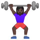 Woman Lifting Weights: Dark Skin Tone on Google Android 8.0
